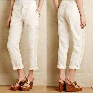 Hei Hei Anthropologie Marlena Linen Lace Pants